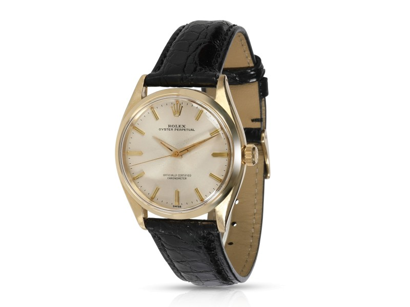 Rolex Oyster Perpetual 6564 Men's Vintage Watch in 14kt Yellow Gold