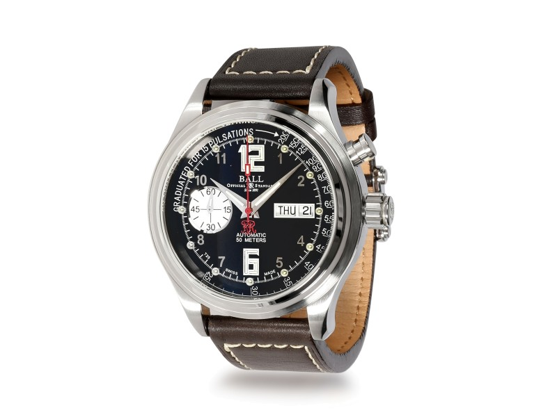 Ball Trainmaster Pulsemeter CM1038D Men's Watch in  Stainless Steel