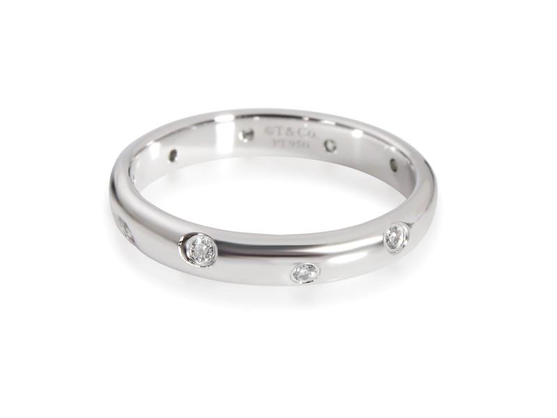 Tiffany & Co. Etoile Diamond Band in  Platinum 0.10