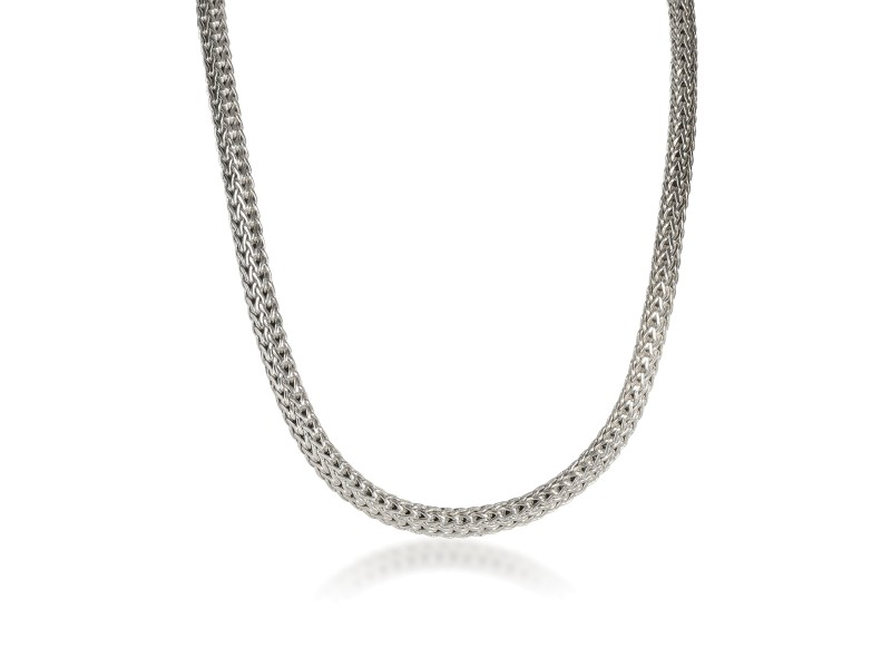 John Hardy wheat Link Chain Necklace in  Sterling Silver