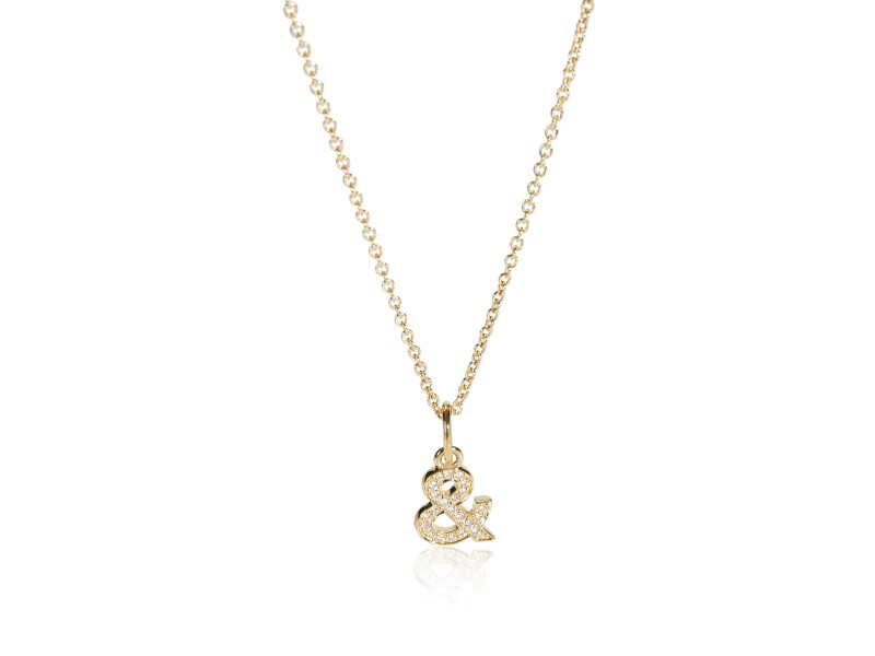 Tiffany & Love Ampersand Pendant in 18k Gold with Diamonds 0.07