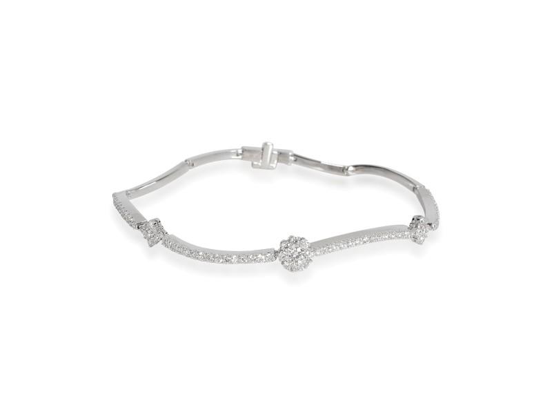 Birks Diamond Flower Bracelet in 18K White Gold 0.89 CTW