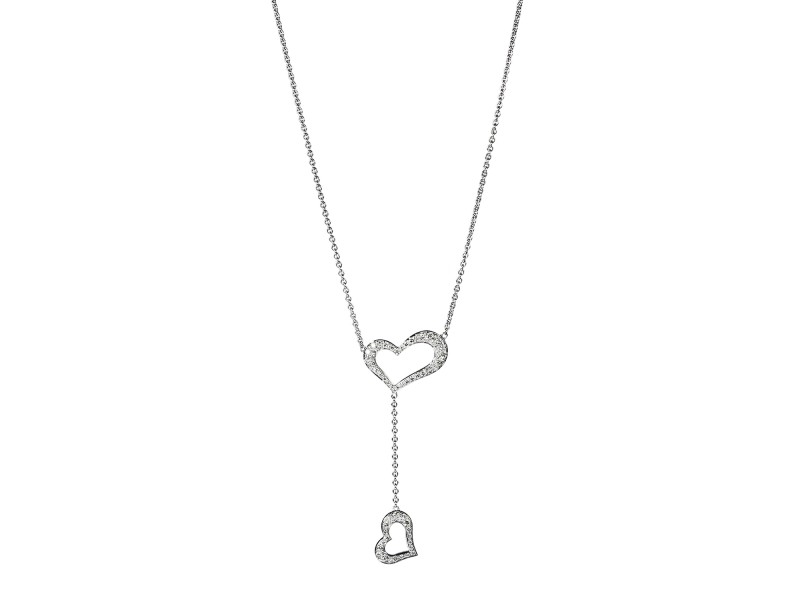 PIAGET 18K White Gold Diamond Heart Necklace