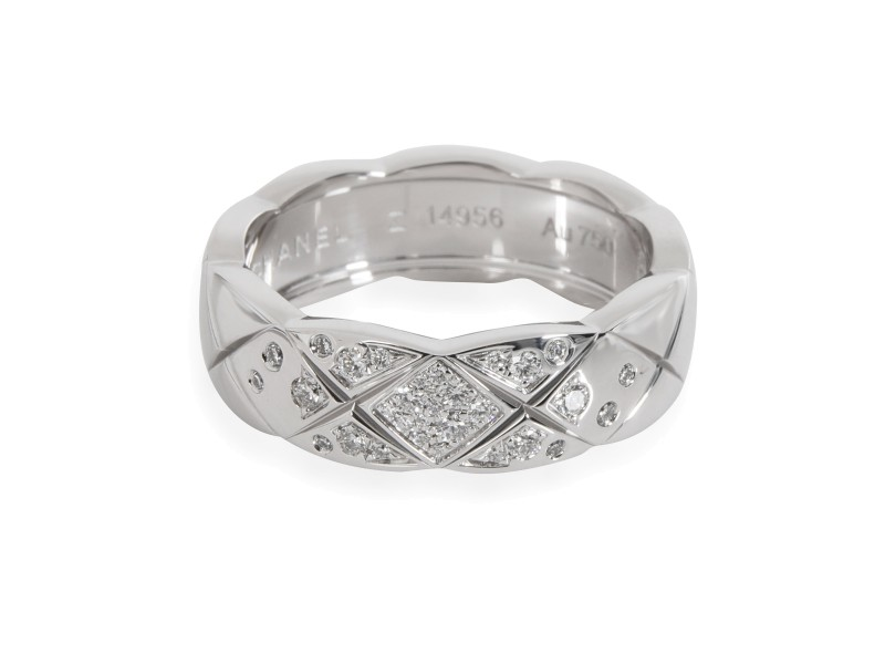 Chanel Coco Crush Diamond Ring in 18K White Gold 0.20