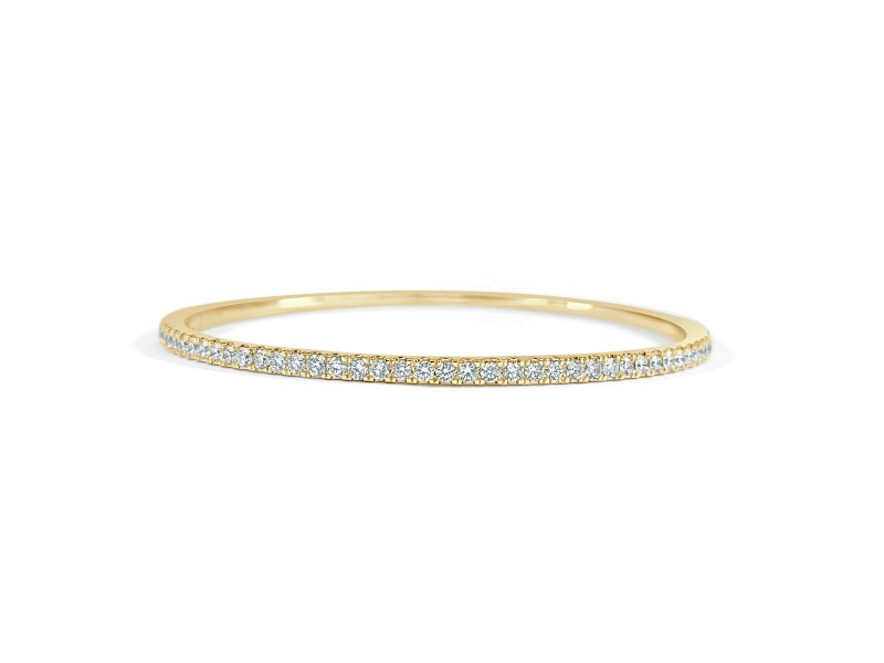 Diamond Bangle in 14KT Yellow Gold 1.00 ctw