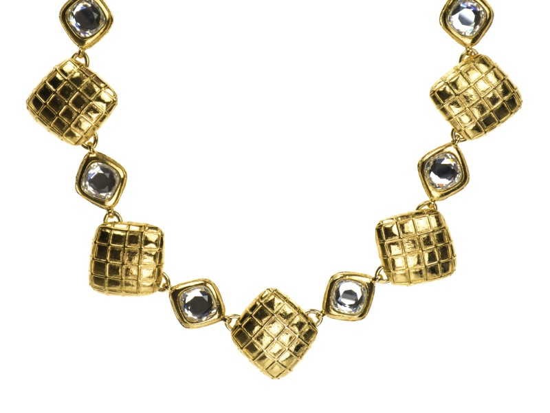 Chanel Vintage Quilted Crystal Choker