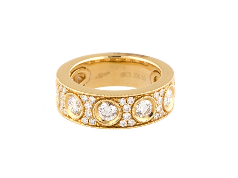 18k Yellow Gold Diamonds Ring