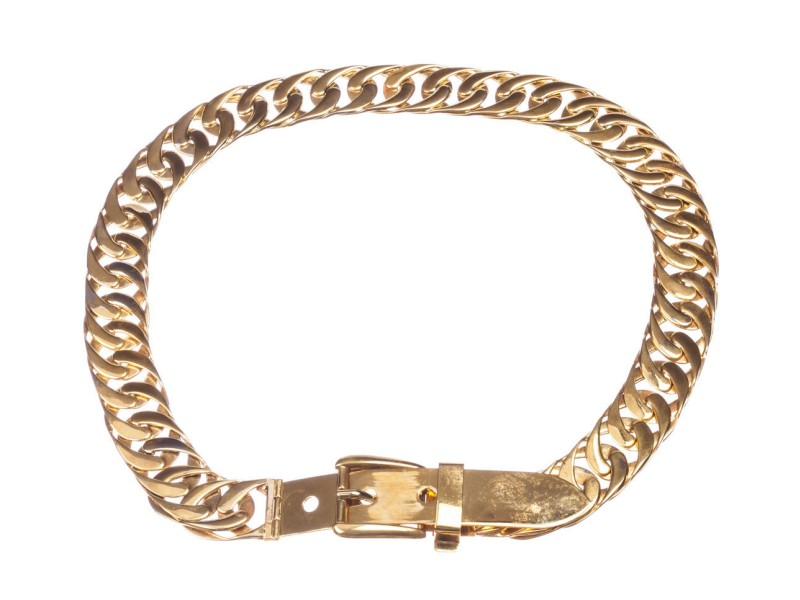 Gucci Massive Runway Chain Belt Necklace
