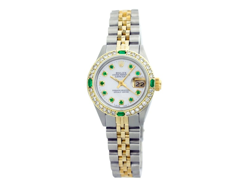 Rolex Datejust Oyter Perpetual 18K Yellow Gold With Mother of Pearl Dial 26mm Womens Watch
