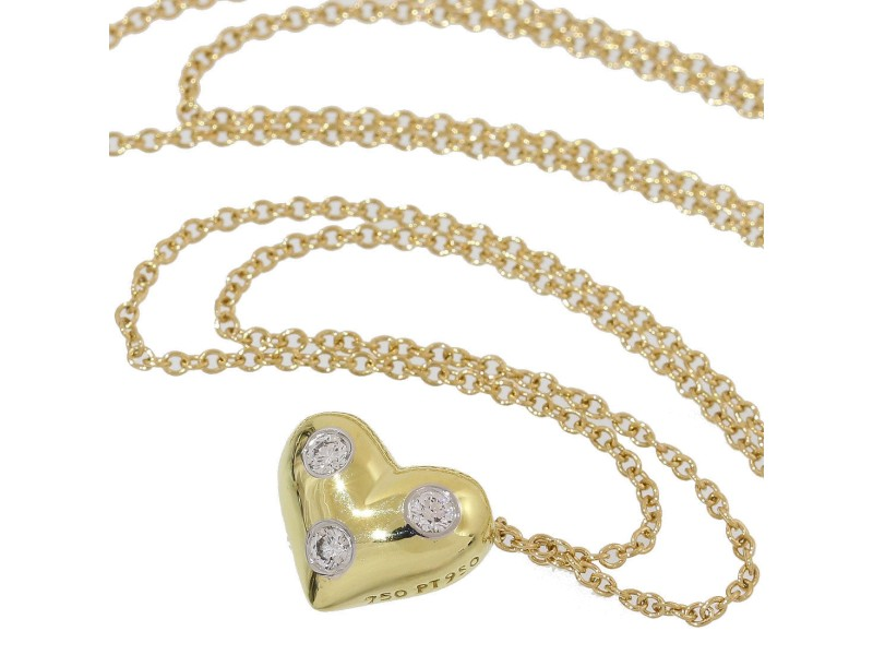 Tiffany co etoile 18k yellow gold platinum with diamond heart tiffany co etoile 18k yellow gold platinum with diamond heart necklace aloadofball Choice Image