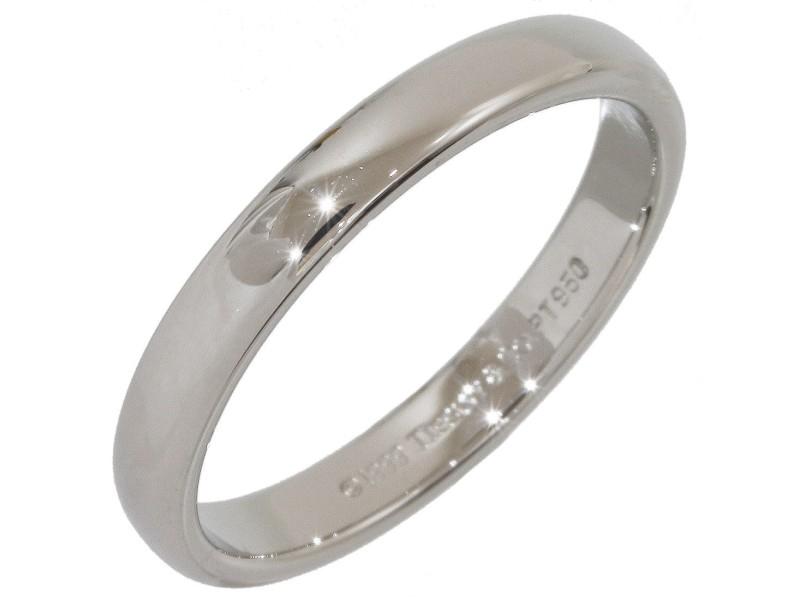 Tiffany & Co. 950 Platinum Wedding Band Ring Size 8.5