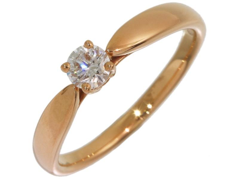 Tiffany & Co. 18K Rose Gold Diamond Ring Size 5.25