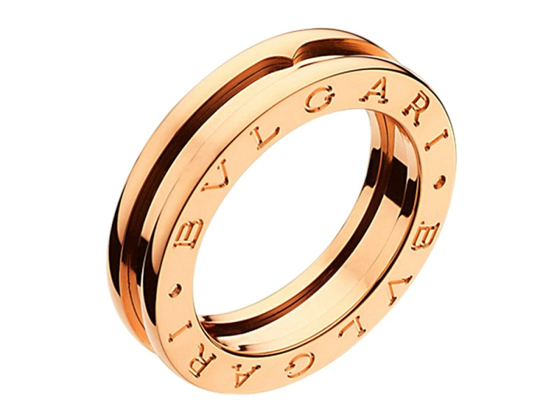 Bulgari 18K Pink Gold B. Zero1 1-Band Ring