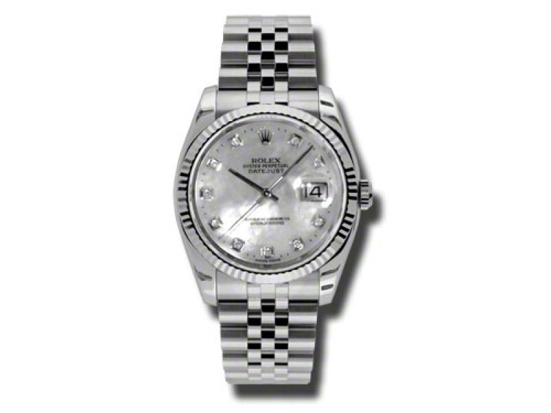 Rolex Datejust Mother of Pearl Dial Automatic Stainless Steel Watch Watch