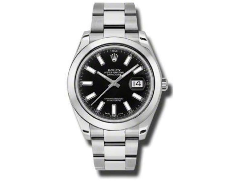Rolex Datejust II Steel Black Dial 41mm Watch