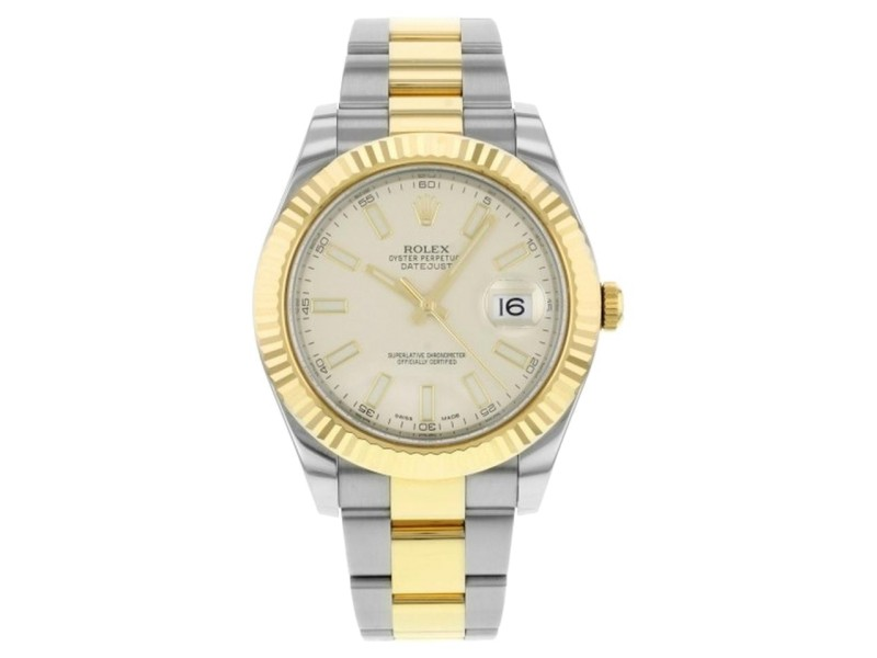 Rolex Datejust II Steel and Yellow Gold Ivory Dial 41mm Watch