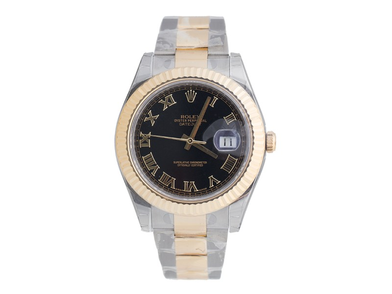 Rolex Datejust II Steel and Yellow Gold Black Dial 41mm Watch