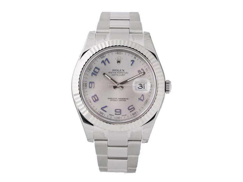 Rolex Datejust II 116334 Automatic Rhodium Dial Stainless Steel 41mm Men's Watch