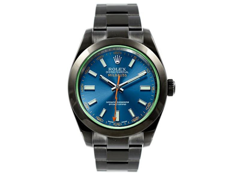 Rolex Milgauss 116400 Blue Dial 40mm Mens Watch
