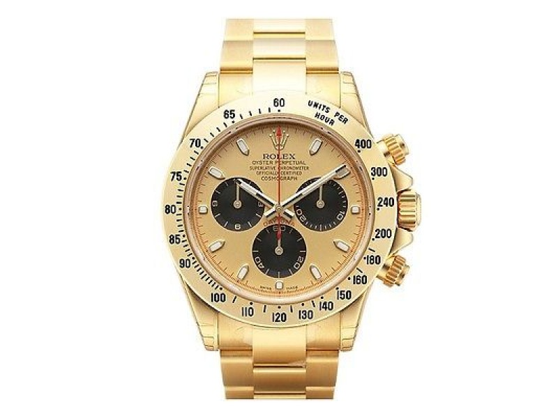 Rolex Daytona Yellow Gold Champagne Paul Newman Dial 40mm Mens Watch