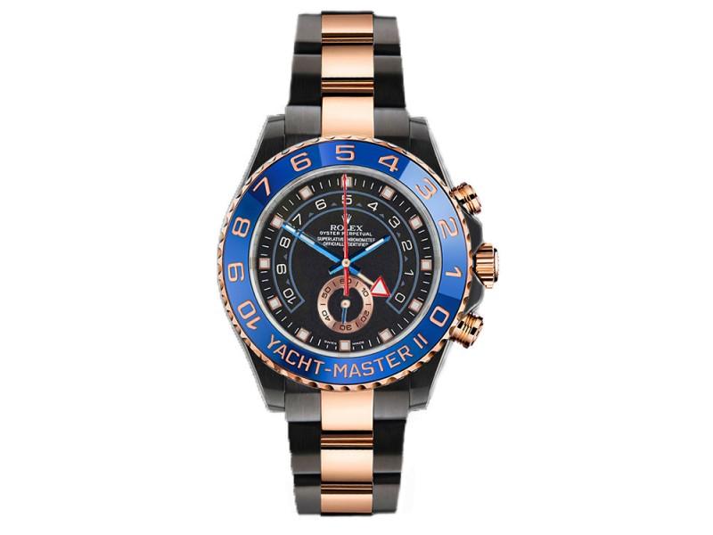 Rolex Yacht Master II 116681 Black Dial 44mm Mens Watch