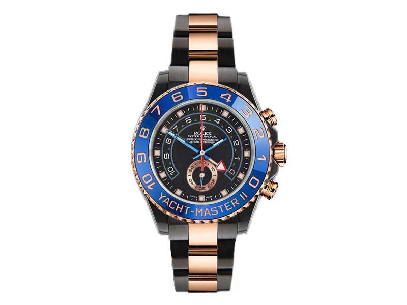 Rolex Yacht Master II 116681 DLC/PVD 44mm Men's Watch