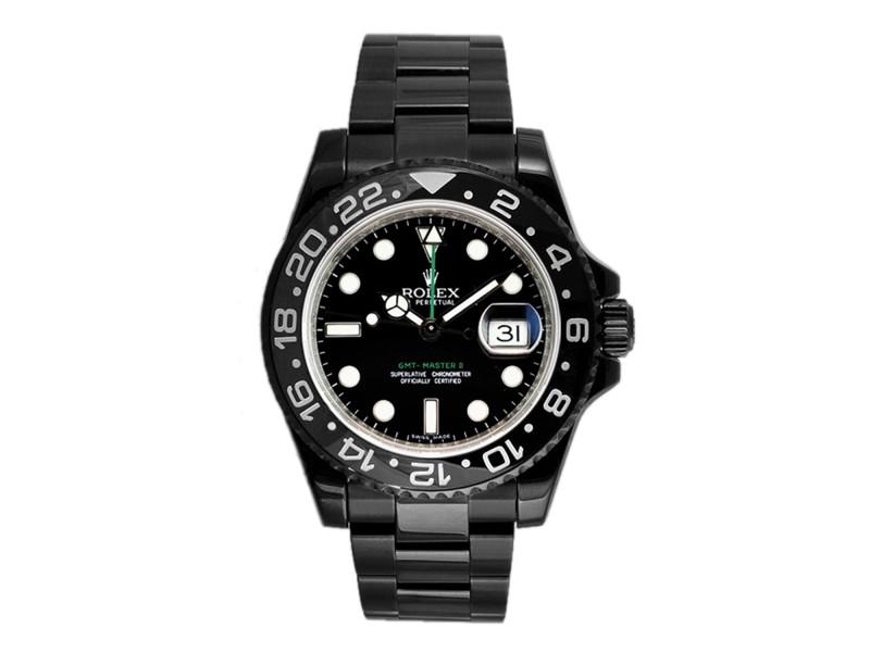 Rolex GMT Master II 116710 DLC-PVD 40mm Men's Watch