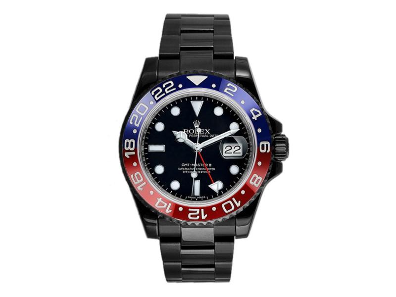 Rolex GMT Master II 116710 Ceramic Pepsi DLC-PVD 40mm Men's Watch