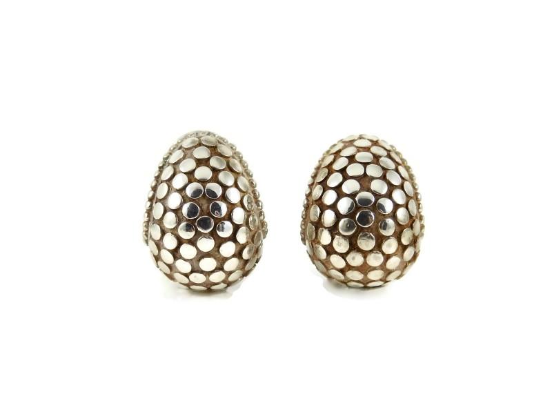 John Hardy Dot  Sterling Silver   Earrings