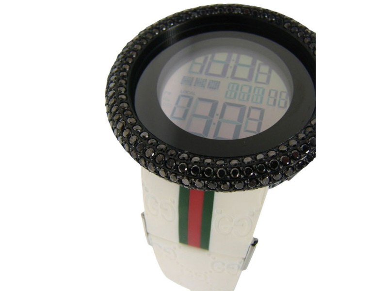 Gucci Black Diamond White I Digital Diamond Watch