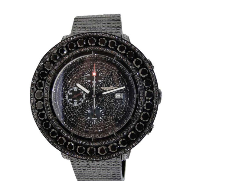 Breitling Super Avenger Black Diamond Iced Out 52 Ct Joe Rodeo Never Worn Mens Watch