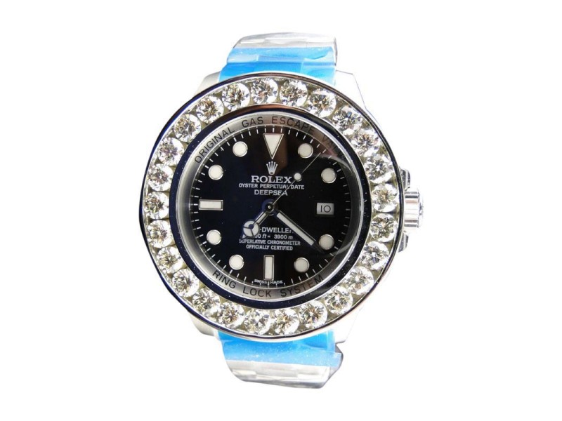 Rolex Sea Dweller Deep Sea Genuine Diamond Brand New Custom 46 mm Mens Watch