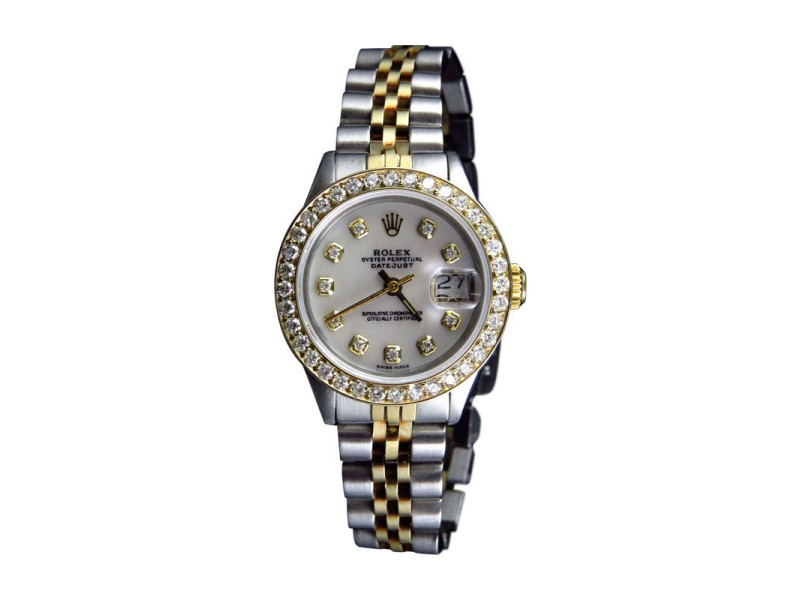 Rolex 2 Tone Datejust Jubilee 29mm Diamond Ladies Watch