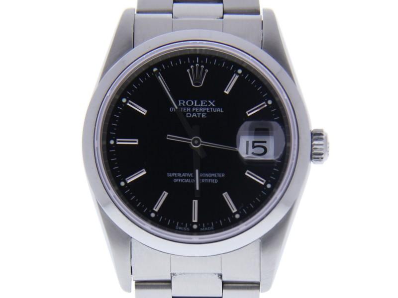 Rolex Date 15200 34mm Mens Watch