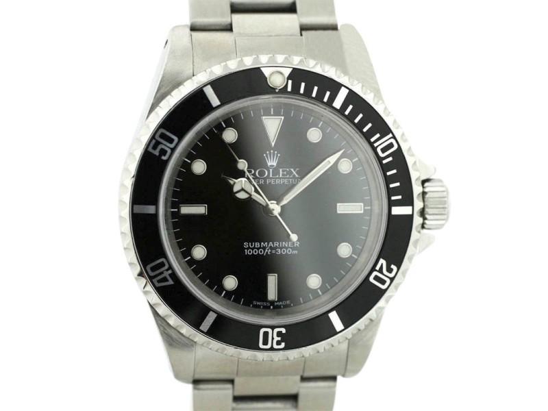 Rolex Submariner 14060 39mm Mens Watch
