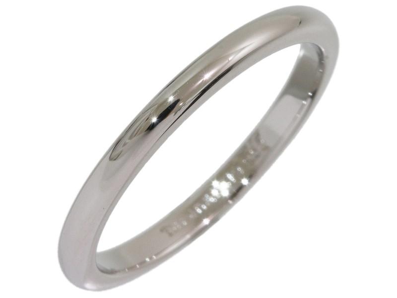 Tiffany & Co. Simple Platinum Wedding Ring Size 7