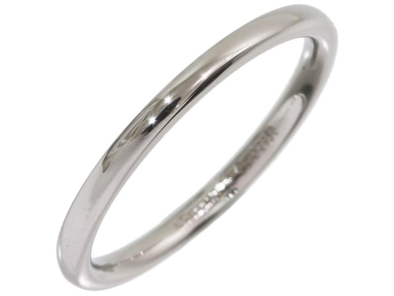 Tiffany & Co. Simple Platinum Wedding Ring Size 4.75