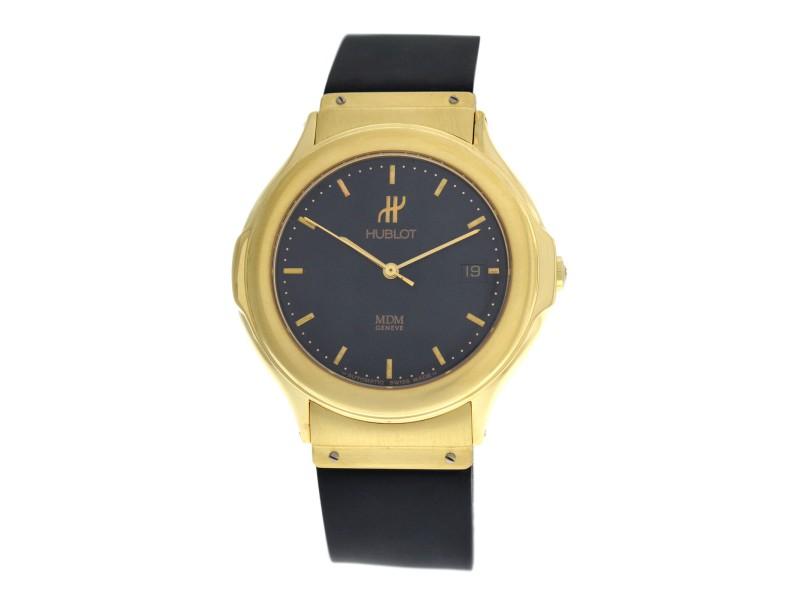 Men's Unisex Hublot MDM Geneve 1512.3 18K Yellow Gold Date Automatic 36MM Watch