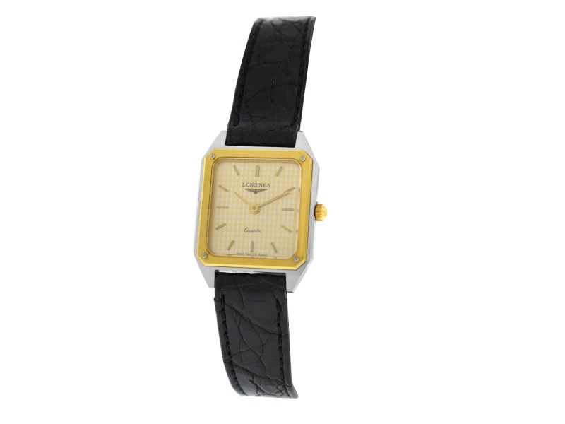 New Ladies Longines XL18 Yellow Gold Stainless Steel Quartz 20mm Watch