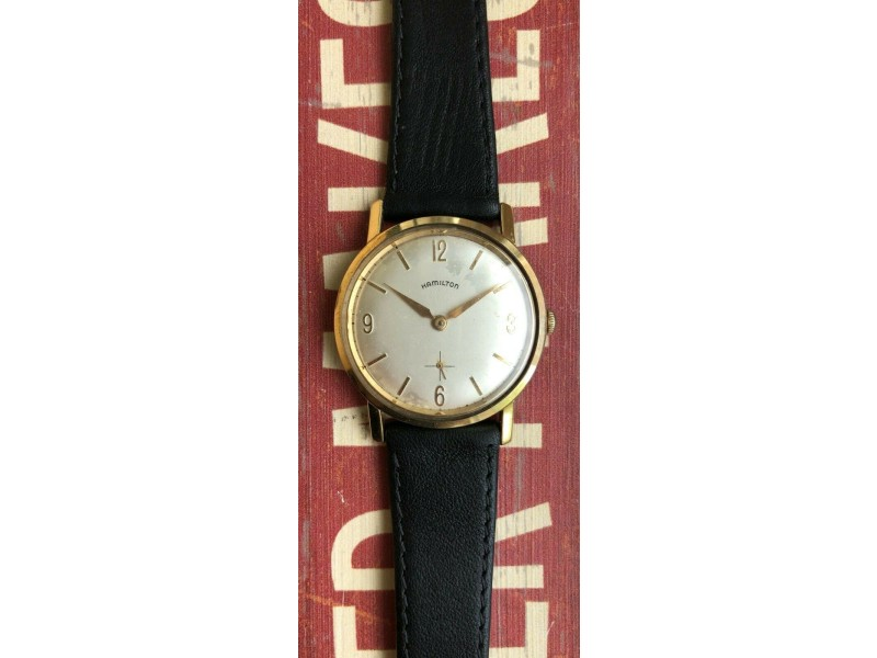 Vintage Hamilton Gold Plated Manual Wind Sub dial Watch