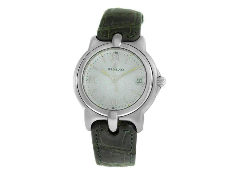 Men's Unisex Bertolucci Pulchra 123 41 Steel Date Quartz 36MM Watch