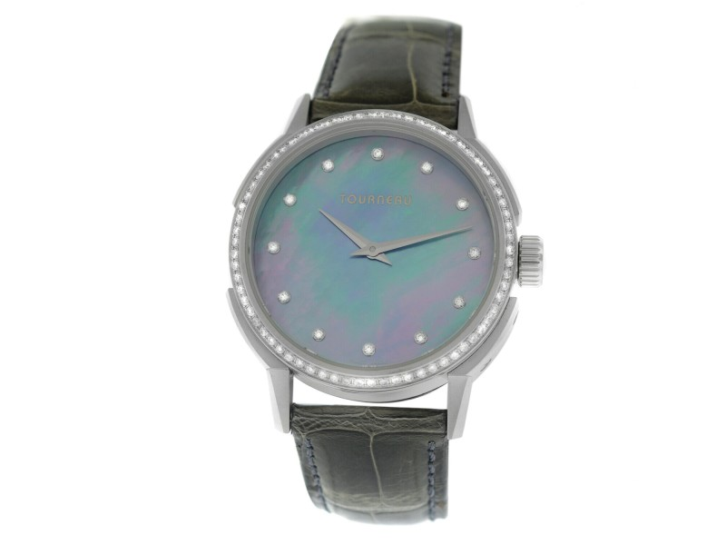 Tourneau TNY Roventa TNY350707014 Ladies Diamond MOP Quartz 35MM Watch