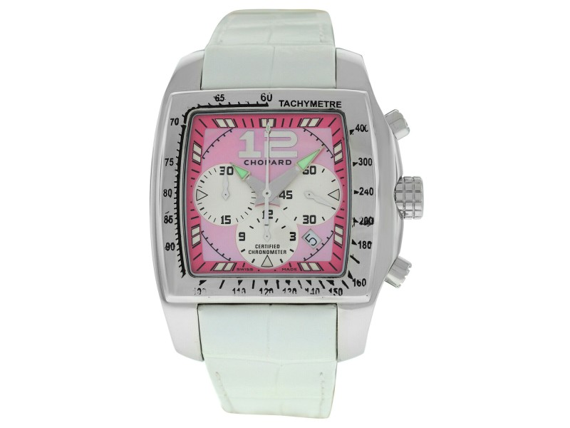 Chopard Two O Ten TYCOON 8961 Ladies Stainless Steel MOP 46MM Automatic Watch