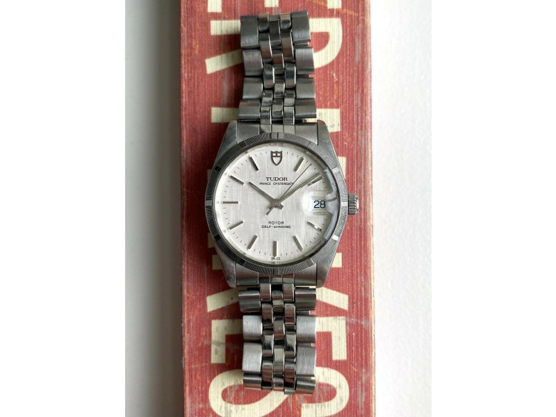 Tudor Prince Oysterdate 74010 Automatic Linen Dial Quickset Serviced w/ Papers