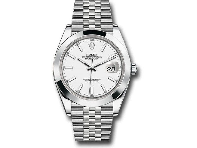 Rolex Oyster Perpetual 126300 WIJ Datejust Stainless Steel 41mm Mens Watch