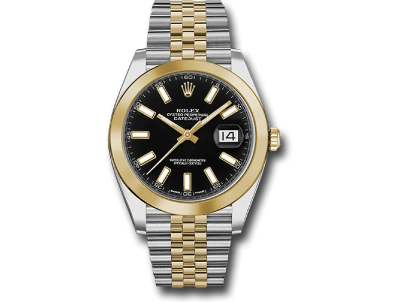 Rolex Oyster Perpetual Datejust 126303 BKIJ Stainless Steel and 18K Yellow Gold 41mm Mens Watch