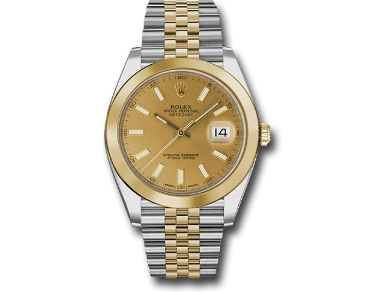 Rolex Oyster Perpetual Datejust 126303 CHIJ Stainless Steel and 18K Yellow Gold 41mm Mens Watch