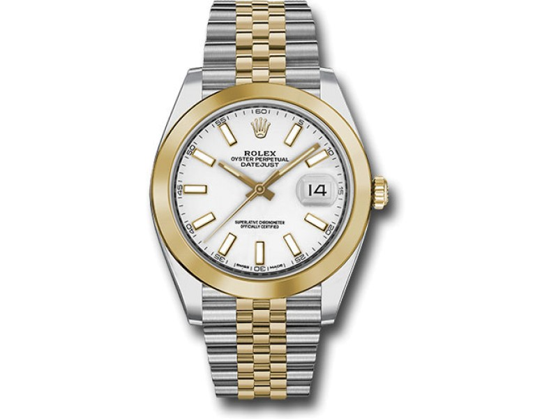Rolex Oyster Perpetual Datejust 126303 WIJ Stainless Steel and 18K Yellow Gold 41mm Mens Watch