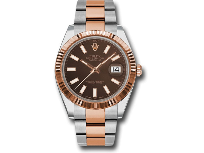 Rolex Oyster Perpetual Datejust 126331 CHOIO Stainless Steel and 18K Rose Gold 41mm Mens Watch