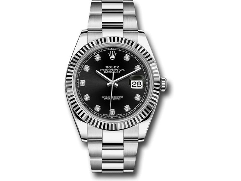 Rolex Oyster Perpetual Datejust 126334BKDO Stainless Steel Automatic 41mm Mens Watch